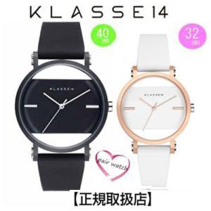 [クラス14]KLASSE14 腕時計 ペアウォッチ Imperfect Black Arch IP Black Case 40mm 32mm ブラックダイヤル (一部透過) IM18BK006M IM18RG006W|yosii-bungu