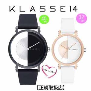 [クラス14]KLASSE14 腕時計 ペアウォッチ Imperfect Black Arch IP Black Case 40mm 32mm ブラックダイヤル (一部透過) IM18BK007M IM18RG007W|yosii-bungu
