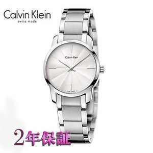 カルバン・クライン ウォッチ腕時計  シティ  K2G23146  レディ シルバー文字板|yosii-bungu