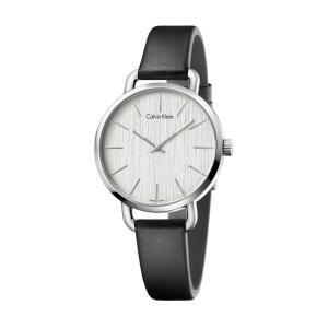 カルバンクライン  イーブン 腕時計 シルバー文字板   レディ 36mm |yosii-bungu