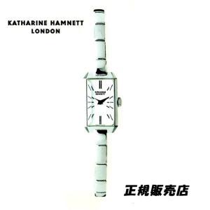 KATHARINE HAMNETT(キャサリン ハムネット) アクセサリーウォッチ  RECTANGLE  KH80H8-B04 ホワイトモデル 正規品 yosii-bungu