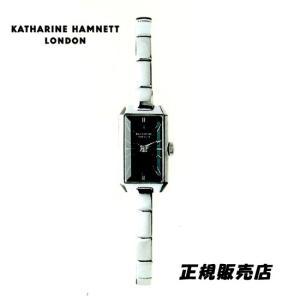 KATHARINE HAMNETT(キャサリン ハムネット) アクセサリーウォッチ  RECTANGLE  KH80H8-B34 ブラックモデル 正規品 yosii-bungu