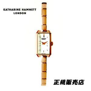 KATHARINE HAMNETT(キャサリン ハムネット) アクセサリーウォッチ  RECTANGLE  KH87H8-B04 ピンクゴールドモデル 正規品 yosii-bungu
