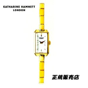 KATHARINE HAMNETT(キャサリン ハムネット) アクセサリーウォッチ  RECTANGLE  KH88H8-B04 イエローゴールドモデル 正規品 yosii-bungu