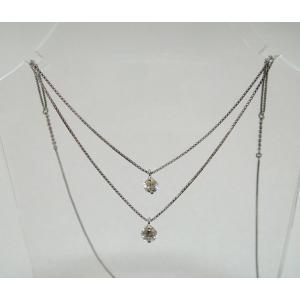 プラチナギルド  Pt ダイヤモンド2連ネックレス  0.50ct  プラチナギルド(正規品)|yosii-bungu