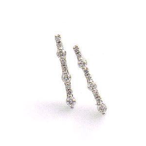 トロワサンク 3ストーン ダイヤモンドピアス|yosii-bungu