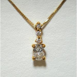 ファンシーズ K18ダイヤモンドネックレス (オーバルシェイブ)カット   0.427ct  DTC(正規品)鑑定書付き|yosii-bungu