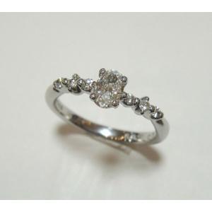 ファンシーズPT900 ダイヤモンドリング (オーバルシェイブ)カット   0.323ct  DTC(正規品)鑑定書付き|yosii-bungu