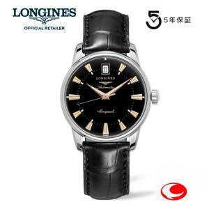 ロンジン 腕時計  ロンジン ヘリテージコレクション ブラック文字盤 腕時計 正規品   L1.611.4.52.4 (信頼の2年保証付) yosii-bungu