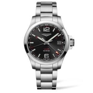 ロンジン 腕時計  コンクエスト V.H.P GMTモデル  L3.718.4.56.6 yosii-bungu