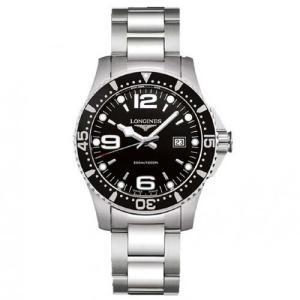 ロンジン 腕時計 ハイドロコンクエスト  ブラック 39mm 300m防水 クォーツ  L3.730.4.56.6  正規品 yosii-bungu