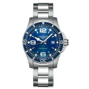 ロンジン 腕時計 ハイドロコンクエスト  ブルー 39mm 300m防水 クォーツ  L3.730.4.96.6 正規品 yosii-bungu