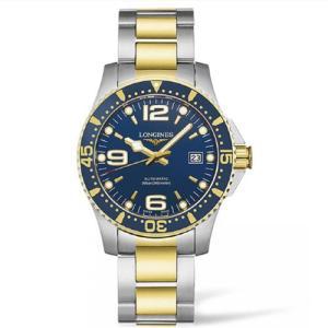 ロンジン ハイドロコンクエスト コンビ ブルー文字板 腕時計  41mm 300m防水 ダイバーウォッチ 自動巻  L3.742.3.96.7 正規品 yosii-bungu