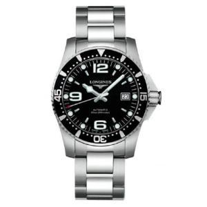 ロンジン 腕時計 ハイドロコンクエスト ブラック文字板   41mm 300m防水ダイバーウォッチ(自動巻)L3.742.4.56.6 正規品 yosii-bungu