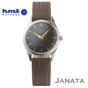 HMT 腕時計 JANATA  ジャナータ コッパ H.JA.34.BKG.L  【正規品】 ※ファインボーイズ時計6月号記載モデル  ブラック文字板/ブラウンベルト|yosii-bungu