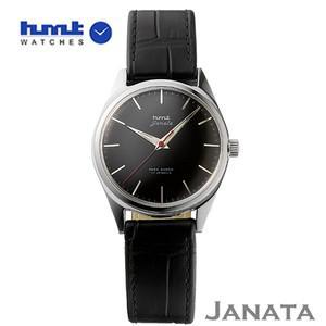 HMT 腕時計 JANATA  ジャナータ コッパ H.JA.34.BKS.L  【正規品】 ※ファインボーイズ時計6月号記載モデル ブラック文字板/ブラックベルト|yosii-bungu