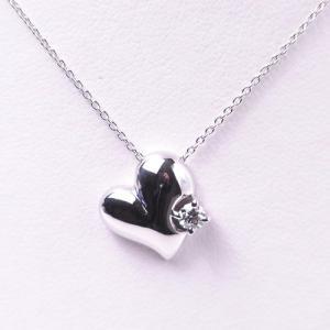 (限定1本) THE LAZARE DIAMOND ラザール保証書付 最高級ダイヤモンド 【ラザールダイヤモンド】 K18WG ハートモチーフ ダイヤモンドペンダント(0.12ct) LD275KN|yosii-bungu