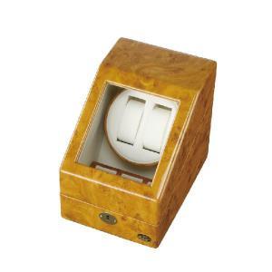 LUHW 木製 LEDライト付き2連 ワインディングマシーン LU-20001RW yosii-bungu