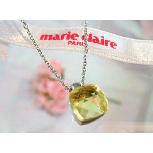 marie claire 【マリクレール】 イエロークオーツ ネックレス CNH0002 (送料無料) yosii-bungu