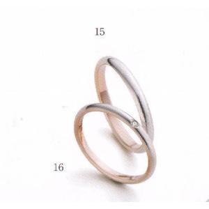 (今ならポイント最大37倍!)マリ・エ・マリ  結婚リング [マリッジ]  Marie et Marie No16(下側ダイヤモンド入り)|yosii-bungu