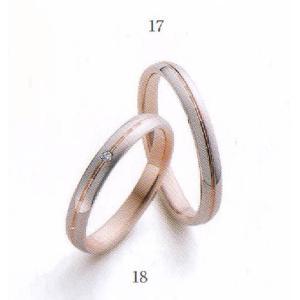 マリ・エ・マリ  結婚リング [マリッジ]  Marie et Marie No18(左側ダイヤモンド入り)|yosii-bungu