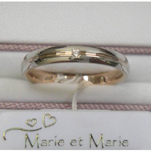 マリ・エ・マリ  結婚リング [マリッジ]  Marie et Marie No18(左側ダイヤモンド入り)|yosii-bungu|02