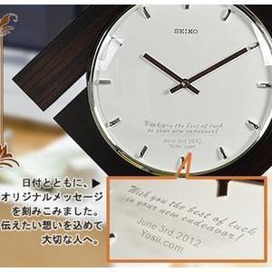 掛時計文字入れ ガラス彫り/エッチング  メッセージ & 名前入れ (4行名入れ以上)|yosii-bungu