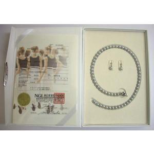 カシェ パールネックレス 黒真珠 ネックレスセット(7mm-7.5mm) 「ハートモデル」 (7mm〜7.5mm) |yosii-bungu