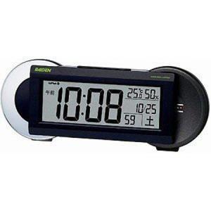セイコー SEIKO ピクシス 目覚まし時計 置き時計 NR533K ライデン デジタル 電波時計 電子音 ベル音|yosii-bungu