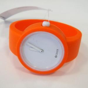 オクロック ピュアオレンジ O clock  オ  クロック カラーシリコンウォッチ  made in ITALY  缶詰に入ったおしゃれウオッチ 最新シリコンウオッチ|yosii-bungu