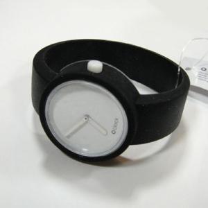 オクロック シグナルブラック O clock  オ  クロック カラーシリコンウォッチ  made in ITALY  缶詰に入ったおしゃれウオッチ 最新シリコンウオッチ|yosii-bungu