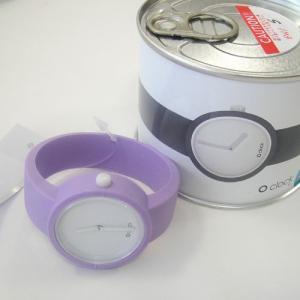 オクロック ライラック カラーシリコンウォッチ  made in ITALY 缶詰に入ったおしゃれウオッチ|yosii-bungu
