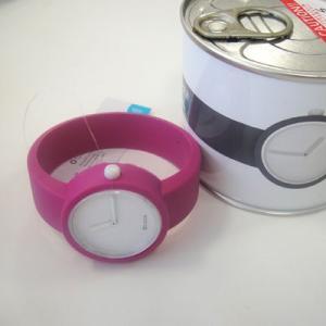 オクロック バイオレット O clock  オ  クロック カラーシリコンウォッチ  made in ITALY 缶詰に入ったおしゃれウオッチ  |yosii-bungu