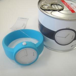 オクロック ライトブルー O clock  オ  クロック カラーシリコンウォッチ  made in ITALY  缶詰に入ったおしゃれウオッチ 最新シリコンウオッチ|yosii-bungu