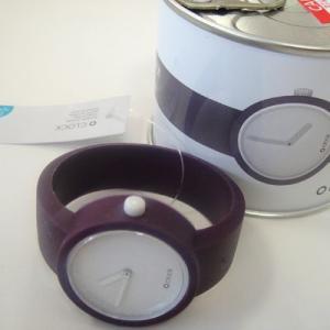 オクロック ディープパープル O clock  オ  クロック カラーシリコンウォッチ  made in ITALY  缶詰に入ったおしゃれウオッチ 最新シリコンウオッチ|yosii-bungu
