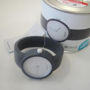 オクロック ブルーグレイ O clock  オ  クロック カラーシリコンウォッチ  made in ITALY  缶詰に入ったおしゃれウオッチ 最新シリコンウオッチ|yosii-bungu