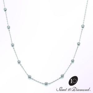 スイート10 ダイヤモンド Sweet 10 Diamond Pt900/Pt850 ダイヤモンド ネックレス|yosii-bungu
