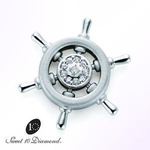スイート10 ダイヤモンド Sweet 10 Diamond SV925 ラペルピン Oceans(オーシャンズ) 0.05ct 【正規保証書付き】|yosii-bungu