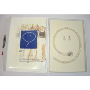 カシェ パールネックレスセット イヤリング付き 7.5mm-8mm 真珠ネックレス (高級真珠)|yosii-bungu