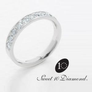 スイート10ダイヤモンド Sweet 10 Diamond Pt900 ダイヤモンドリング 0.50ct  幅 3.6mmサイズ|yosii-bungu