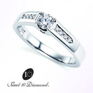 スイート10ダイヤモンド Sweet 10 Diamond Pt900 ダイヤモンドリング 0.20ct/0.06ct|yosii-bungu