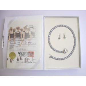 カシェ ネックレス 黒真珠 ネックレスセット (7mm〜7.5mm) |yosii-bungu