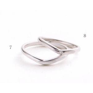 (今ならポイント最大37倍!)マリ・エ・マリ  結婚リング [マリッジ]  Marie et Marie No8(右ダイヤモンド入り)|yosii-bungu