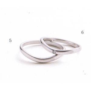 (今ならポイント最大37倍!)マリ・エ・マリ  結婚リング [マリッジ]  Marie et Marie No6(右ダイヤモンド入り)|yosii-bungu