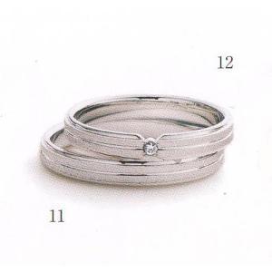 (今ならポイント最大37倍!)マリ・エ・マリ  結婚リング [マリッジ]  Marie et Marie No12(上側ダイヤモンド入り)|yosii-bungu