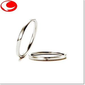 マリ・エ・マリ (左ダイヤ無し) 結婚リング [マリッジ]  Marie et Marie QCPMM-15|yosii-bungu