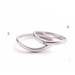 (今ならポイント最大37倍!)マリ・エ・マリ  結婚リング [マリッジ]  Marie et Marie No5(左ダイヤ無し)QCPMM-4|yosii-bungu