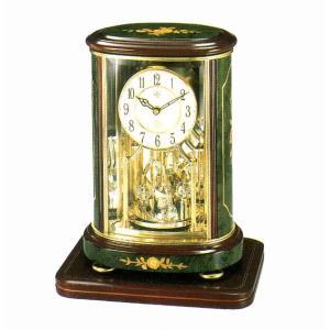 RHYTHM ハイグレード リズム クオーツ 置時計  RHG-R56  (イタリア製象嵌使用) 4SG702HG05|yosii-bungu