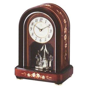 RHYTHM ハイグレード リズム クオーツ時計置時計 RHG-S70 06  4SG786HG06 (イタリア製象嵌使用)|yosii-bungu