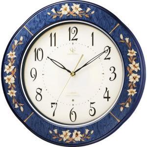 (今ならポイント最大37倍!)RHYTHM ハイグレード リズム  象嵌仕上げ (青色象嵌人気No1モデル) 電波掛時計  RHG-M107  8MY471HG04|yosii-bungu